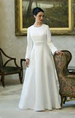 Modest Bridals, Temple Gowns, LDS Dresses, High Neck And Long Sleeve Dresses